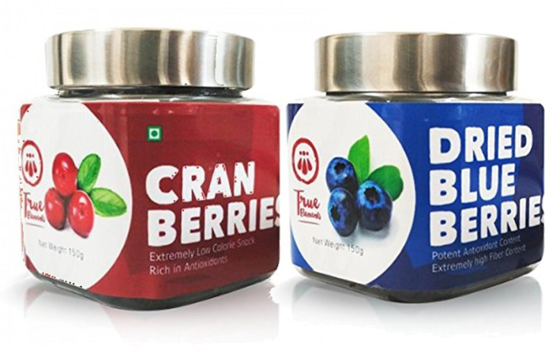 True Elements Healthy Berries Cranberries, Blueberry(150 g, Plastic Bottle)