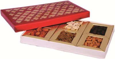 Skylofts 400gms Dry Fruits Gift Box - Diwali Hamper Almonds, Pistachios, Apricots, Raisins, Cashews(400 g, Box)