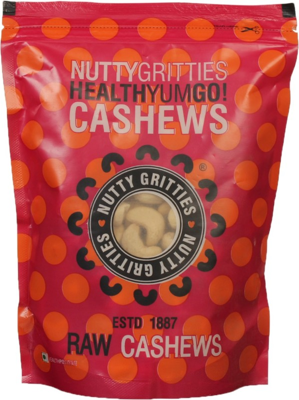 Nutty Gritties Premium Cashews(250 g, Pouch)