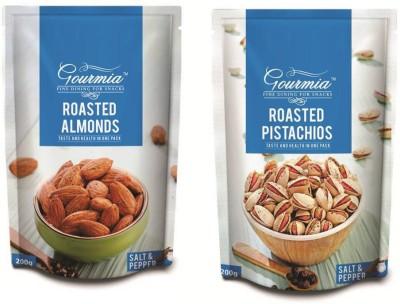 Gourmia Roasted Almonds Salt & Pepper 200g + Salt Pepper 200g Pistachios(400 g, Box)
