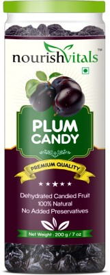 NourishVitals Plum Dried Fruit (Dehydrated Fruits) Plums(200 g, Can)