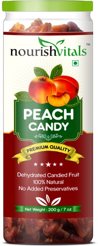 NourishVitals Peach Dried Fruit (Dehydrated Fruits) Peaches(200 g, Can)