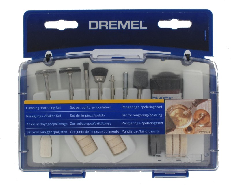 Dremel Cleaning and Polishing Accessories 20 Pieces Set(Multicolor)