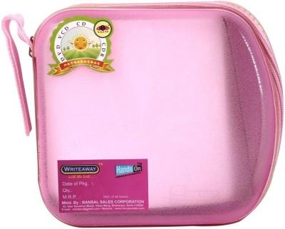 HANDSON CD Holder (40 Pockets) Pink , Plastic  Office Set