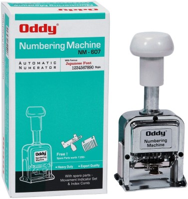 Oddy Auto Numbering Machine 6 Digits With Japanese Font Style With Spare Parts  Office Set