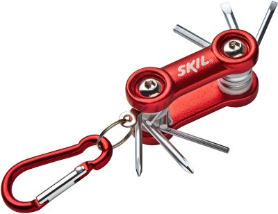 Skil 6 Peice Pocket Screwdriver with Carabiner Set (Red and White)