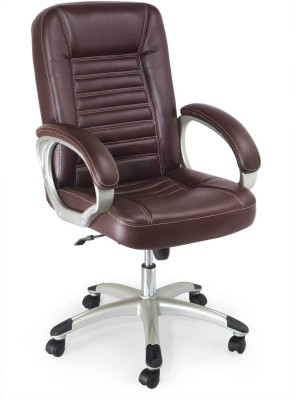 Adiko Leatherette Office Chair(Brown)