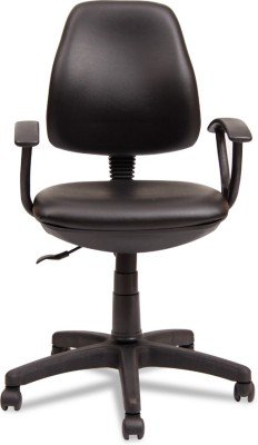 Durian MMPL/70005/B Leatherette Office Chair(Black)