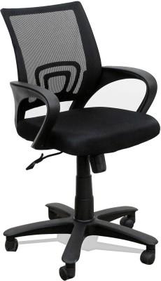 TimberTaste Rocky Metal Office Chair(Black)