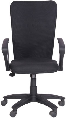Woodstock India Fabric Office Chair(Black, Black)