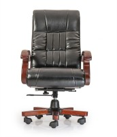 Durian Herald Leatherette Office Chair(Black)