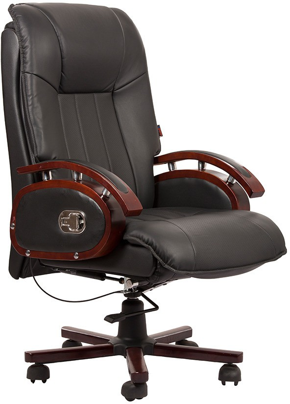 View Divano Engineered Wood Office Chair(Black, Brown) Furniture (Divano)