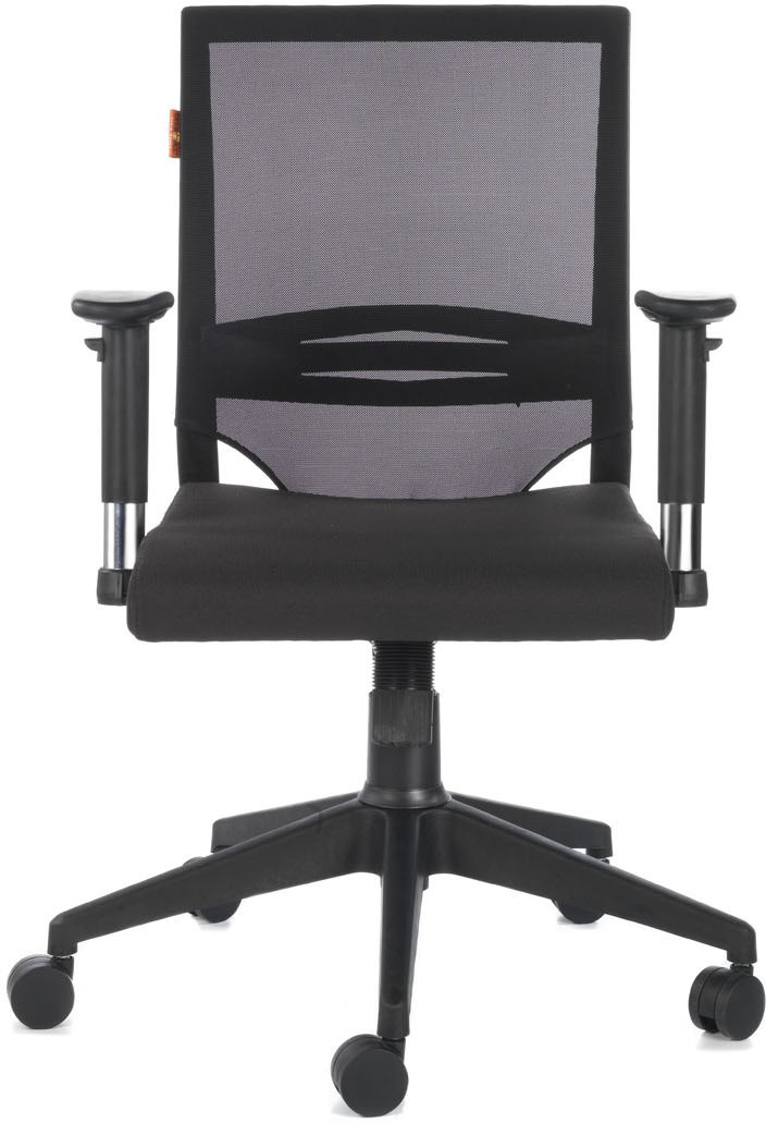 View Bluebell Rainbow Mid Back Fabric Office Chair(Black) Furniture (Bluebell)