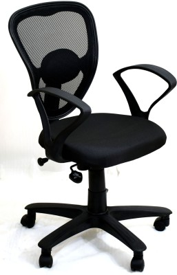 TimberTaste DOLLY Metal Office Chair(Black)