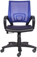 Woodstock India Leatherette Office Chair(Blue, Black)
