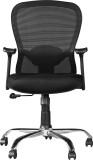 HomeTown PARIS Nylon Office Chair (Black...