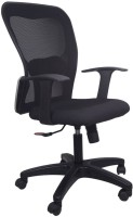 Hetal Enterprises Synthetic Fiber Office Chair(Black)