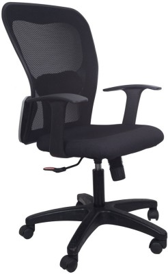 Hetal Enterprises Fabric Office Chair(Black)