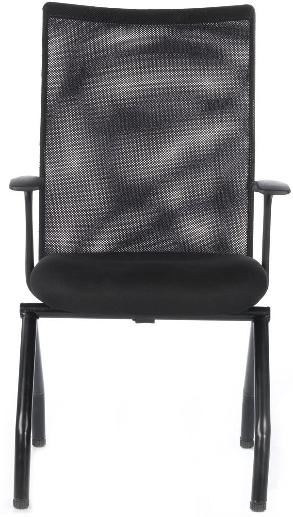 View Bluebell Genesis Midback Visitor Fabric Office Chair(Black) Furniture (Bluebell)