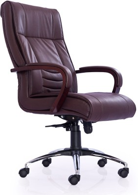 Durian INTERIO-HB-BROWN Leatherette Office Chair