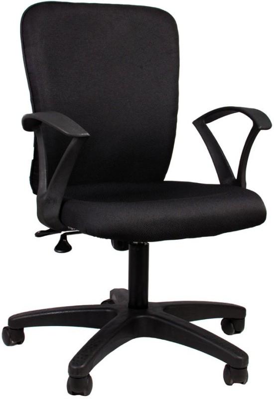 Hetal Enterprises Fabric Office Chair(Black)