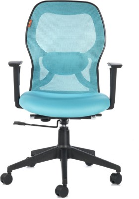 Bluebell Kruz I Mid Back Plastic Office Chair(Blue)