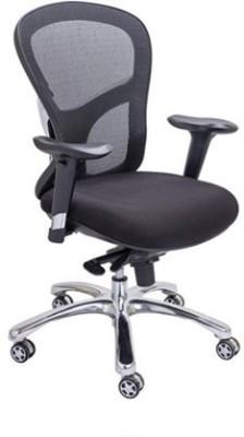 Mavi Leatherette Office Chair(Black)