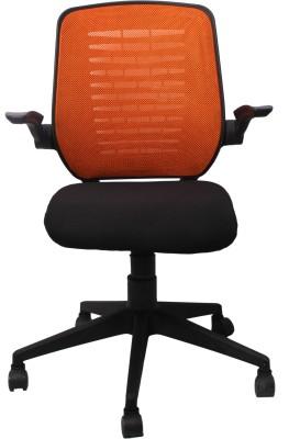 Woodstock India Fabric Office Chair(Orange, Black)