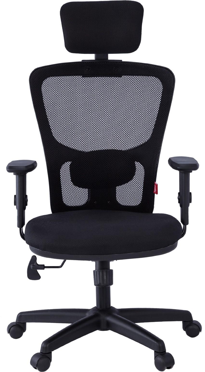 View Ergoline EVA HB Fabric Office Chair(Black) Furniture (Ergoline)