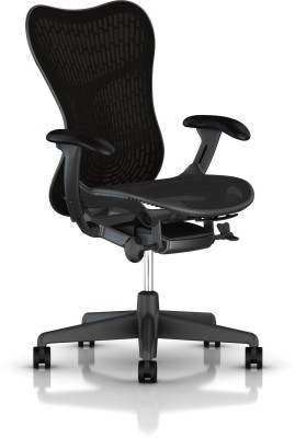 HermanMiller Mirra 2 - Black Butterfly suspension back - Graphite Seat - Triflex Polymer Synthetic Fiber Office Chair(Black)
