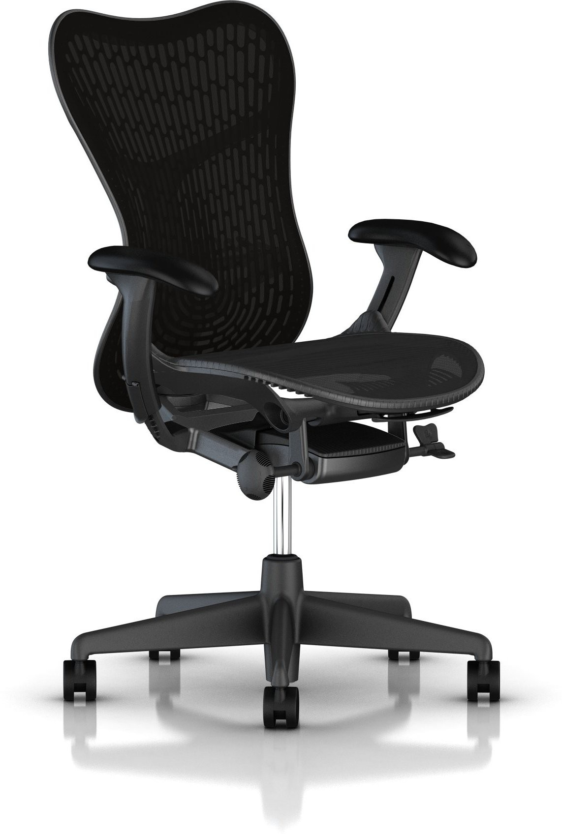 View HermanMiller Mirra 2 - Black Butterfly suspension back : Graphite Seat : Triflex Polymer Synthetic Fiber Office Chair(Black) Furniture (HermanMiller)