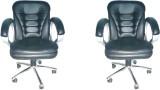 Adiko Plastic Office Chair (Black, Set o...