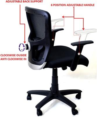 TimberTaste JOHNY Metal Office Chair(Black)