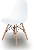 Alex Daisy Nordic Fabric Study Chair(White)