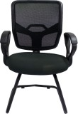 Woodpecker Fabric Visitor Chair (Black)
