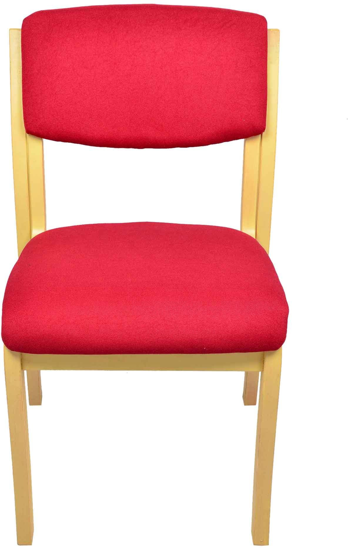 View Darla Interiors Solid Wood Office Chair(Red) Furniture (Darla Interiors)