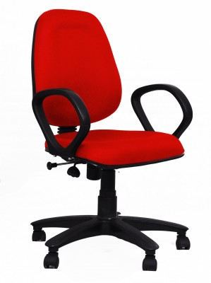 Woodstock India Fabric Office Chair(Red, Red)