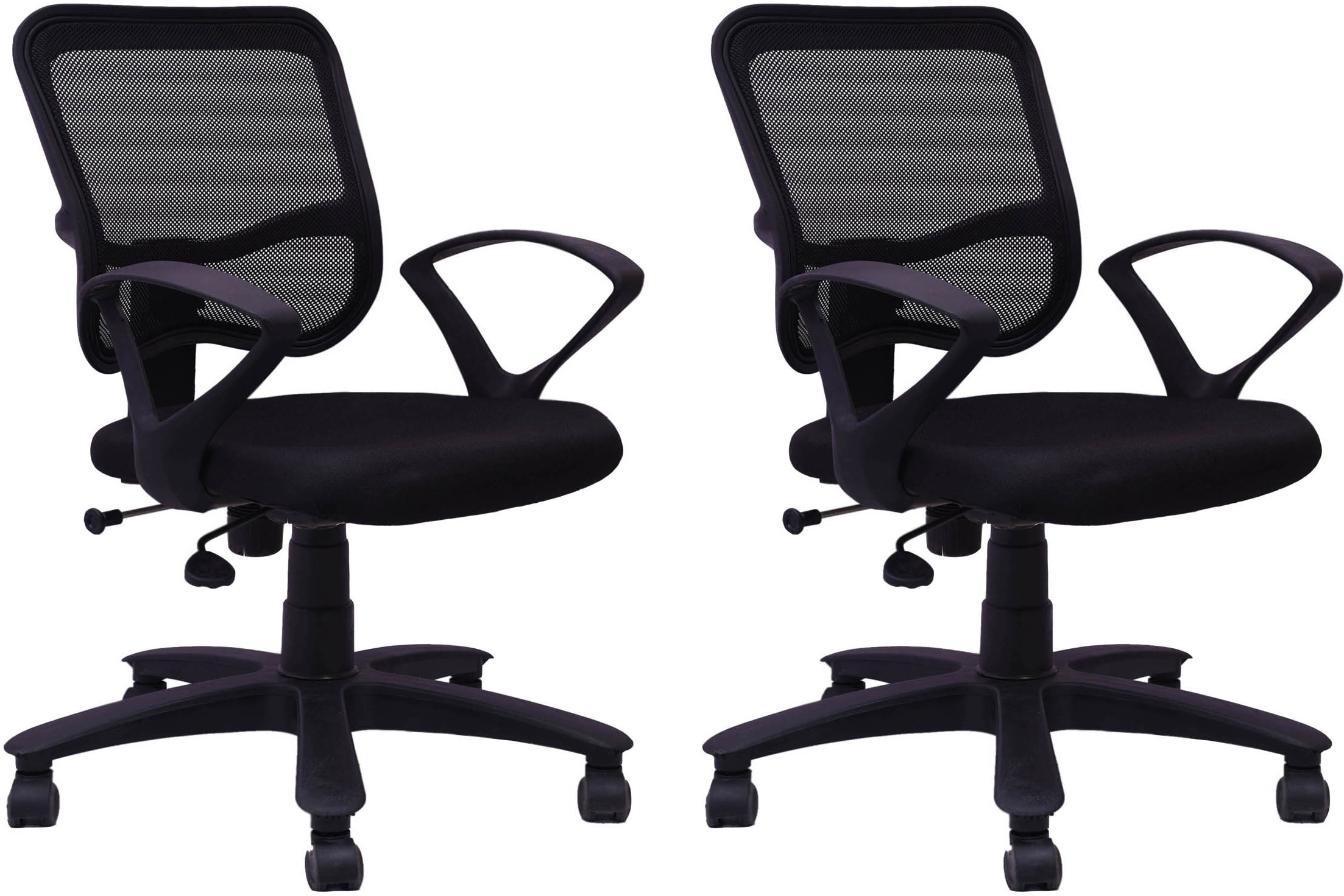 View Woodstock India Fabric Office Chair(Black, Black, Set of 2) Furniture (Woodstock India)