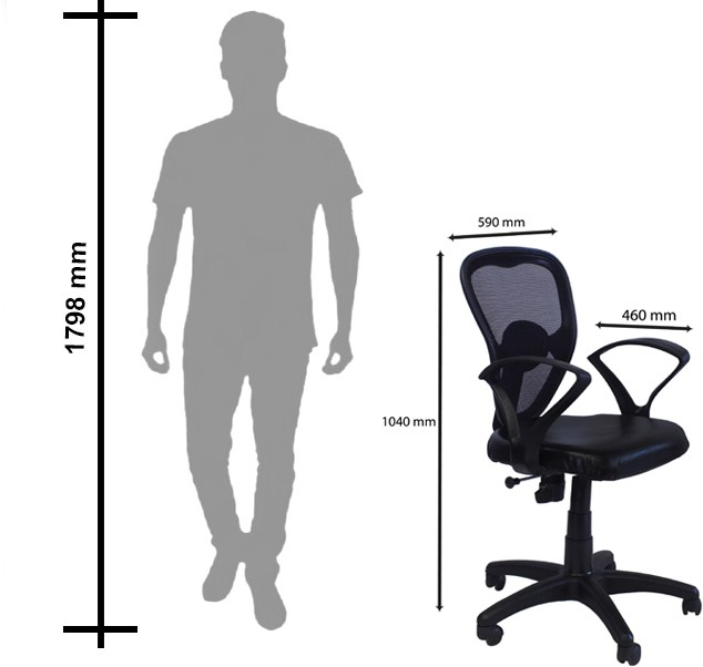 View Hunybuni Foam Office Chair(Black) Furniture (Hunybuni)