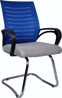V J Interior Fabric Office Chair(Blue)