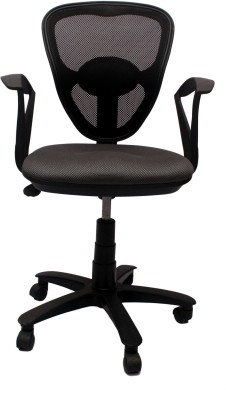 V J Interio Fabric Office Chair(Black)