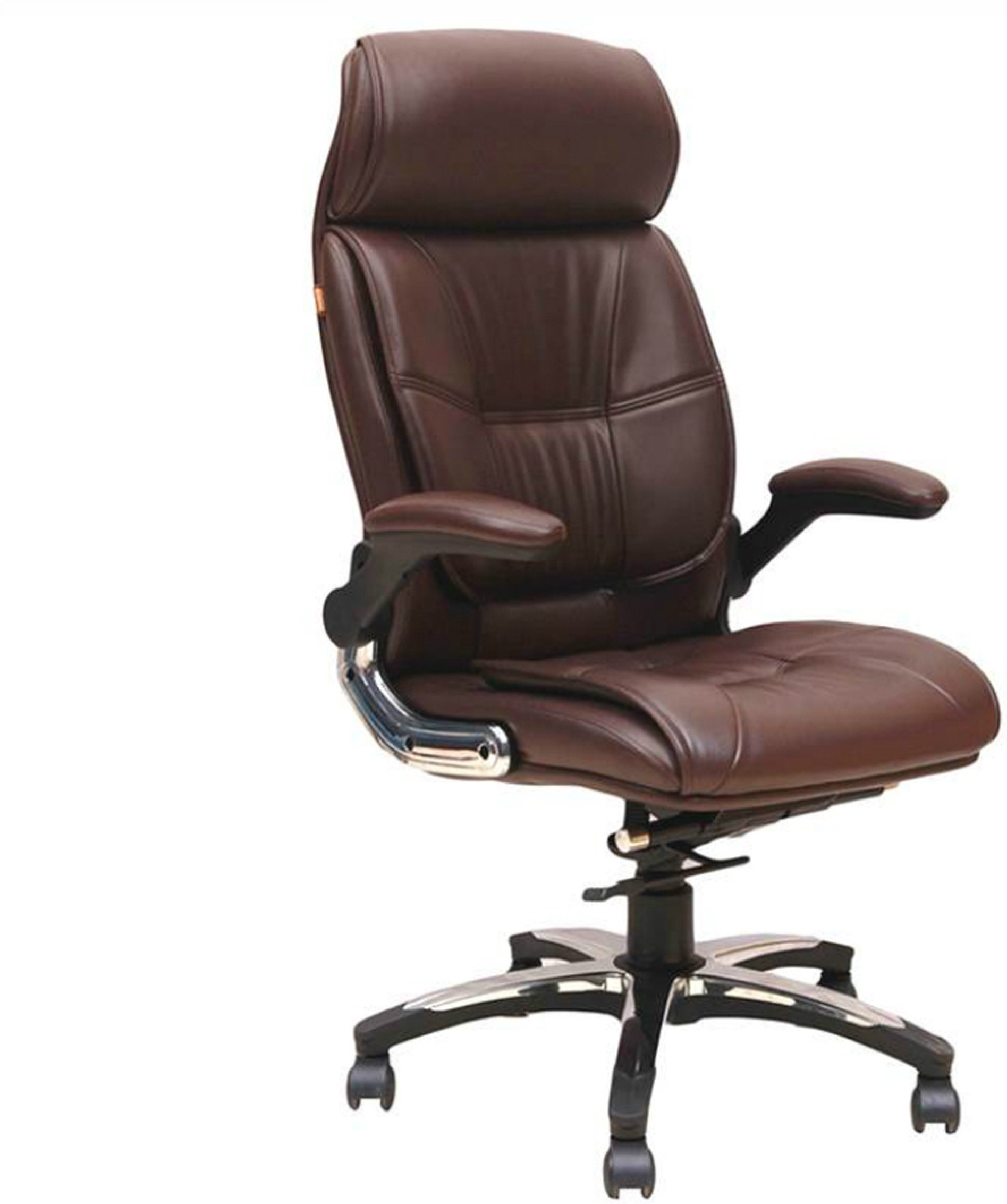View Woodstock India Lincoln Fabric Office Chair(Brown, Brown) Furniture (Woodstock India)