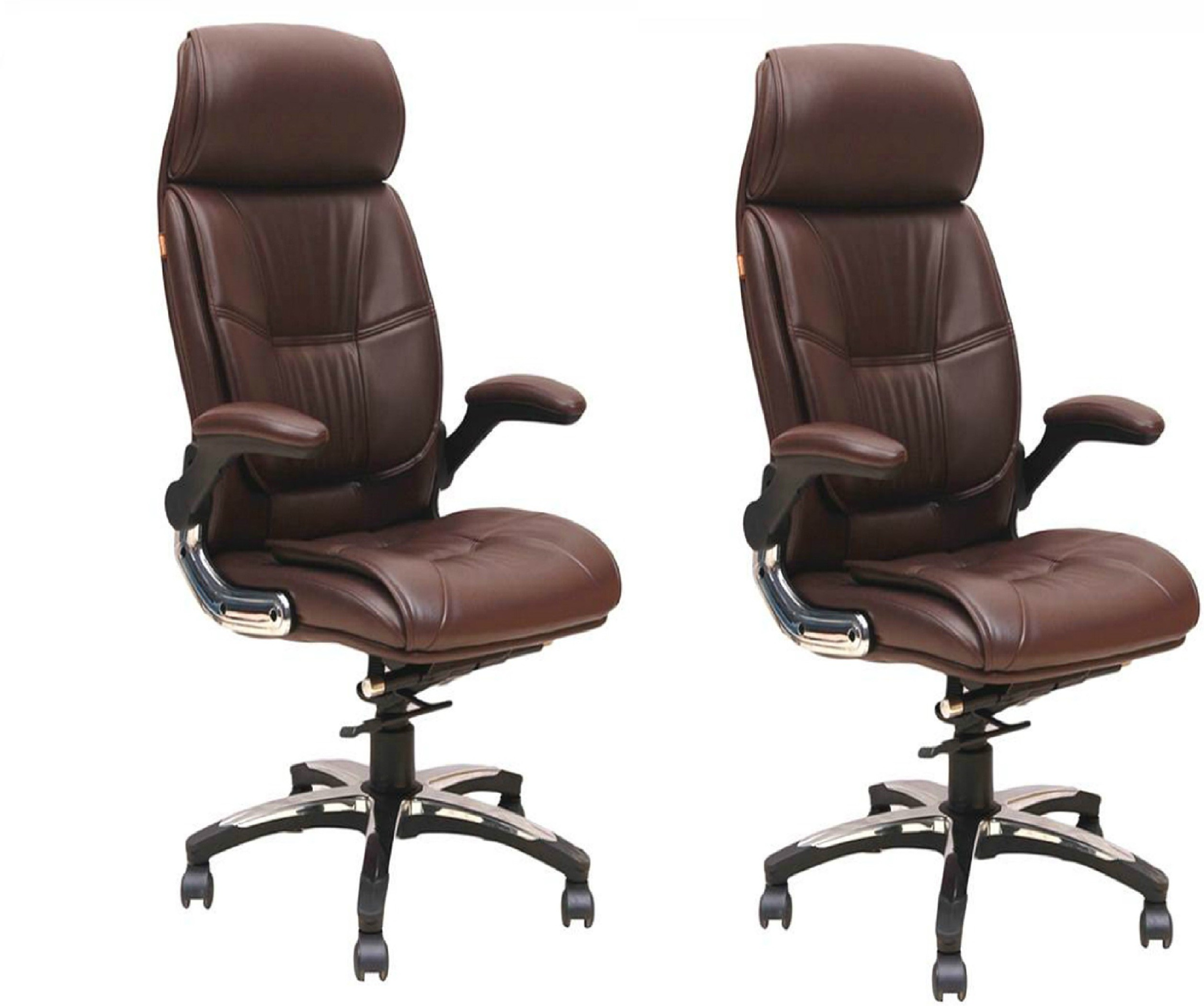 View Woodstock India Lincoln NA Office Chair(Brown, Brown, Set of 2) Furniture (Woodstock India)