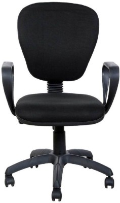 Parin Plastic Office Chair(Black)