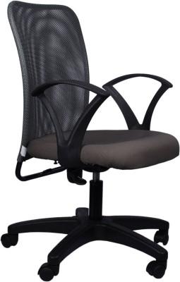 Hetal Enterprises Fabric Office Chair(Grey)