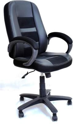 TimberTaste RUBY Metal Office Chair(Black)