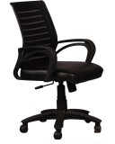 Ks chairs Leatherette Office Chair (Blac...