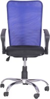 Woodstock India Fabric Office Chair(Blue, Black)