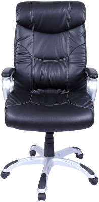 Woodstock India Leatherette Office Chair(Black, Black)