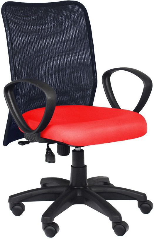 View Divano Engineered Wood Office Chair(Red, Black) Furniture (Divano)